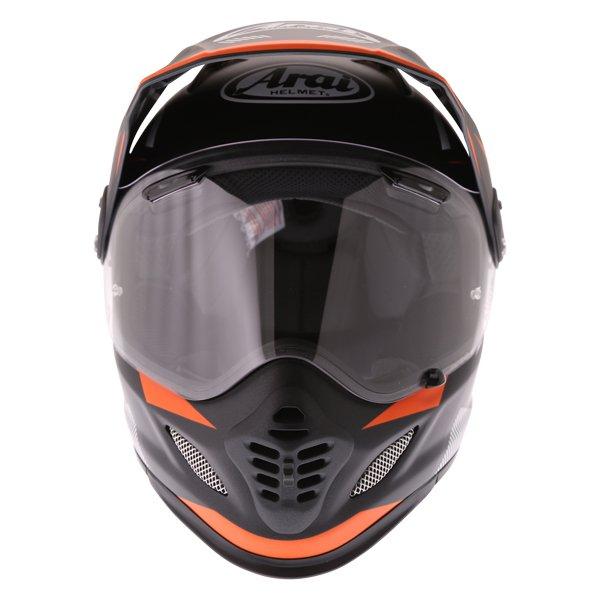 Arai Tour-X 4 Break Orange Adventure Motorcycle Helmet Front