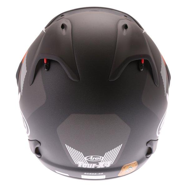 Arai Tour-X 4 Break Orange Adventure Motorcycle Helmet Back
