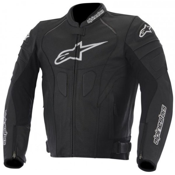 Alpinestars GP Plus R Black Leather Motorcycle Jacket Front