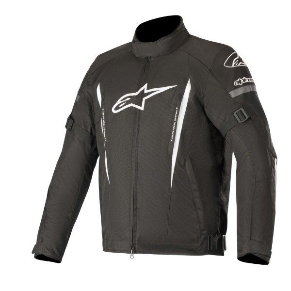 Alpinestars Gunner V2 Black White Waterproof Textile Motorcycle Jacket Front