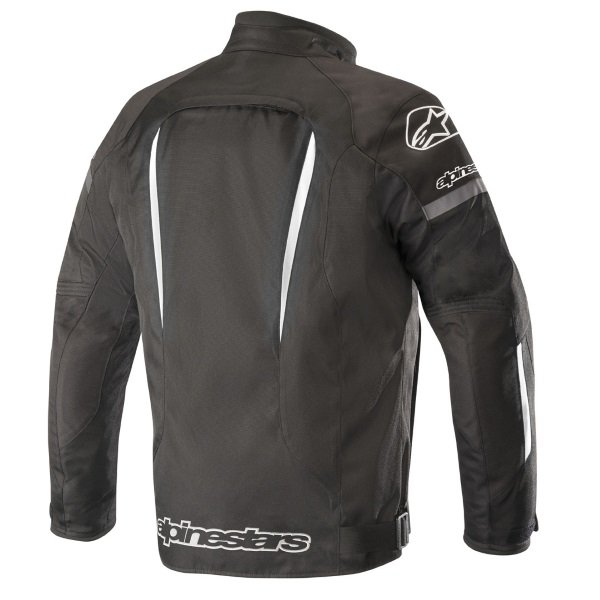 Alpinestars Gunner V2 Black White Waterproof Textile Motorcycle Jacket Back