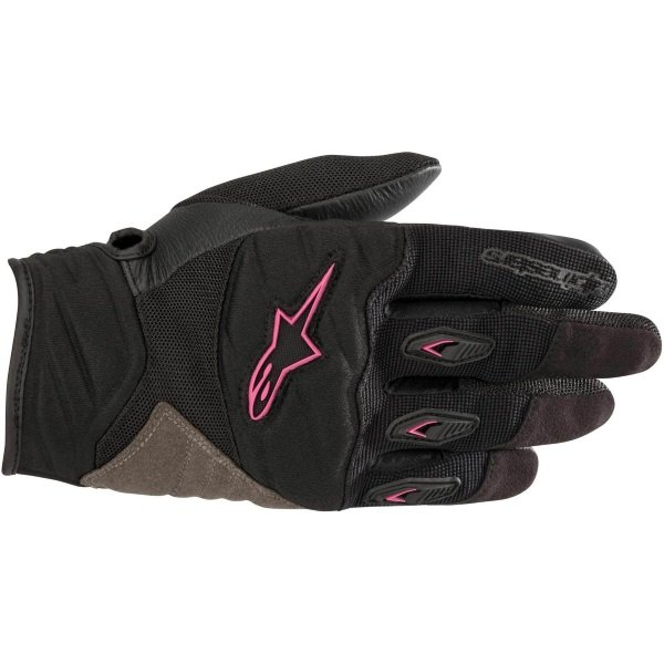 Alpinestars Stella Shore Ladies Black Fuchsia Motorcycle Gloves Back
