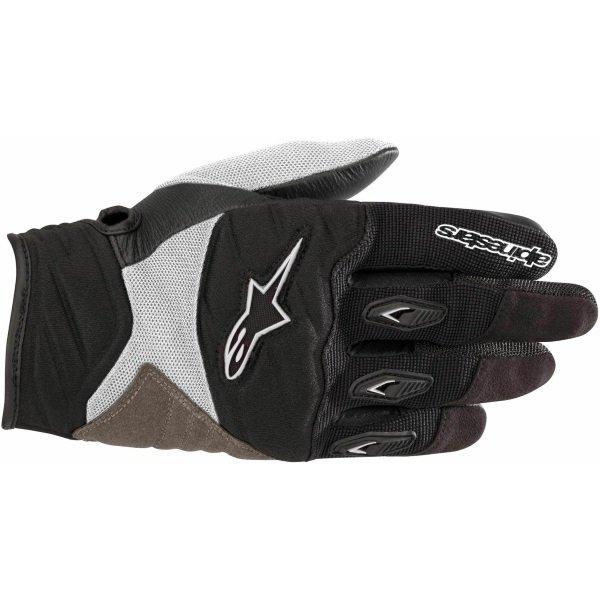 Alpinestars Stella Shore Ladies Black White Motorcycle Gloves Back