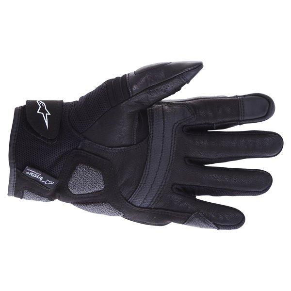 Alpinestars Crosser Drystar Air Black Motorcycle Gloves Palm