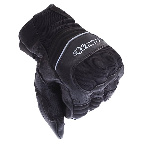 Alpinestars Crosser Drystar Air Black Motorcycle Gloves Knuckle