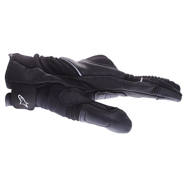 Alpinestars Crosser Drystar Air Black Motorcycle Gloves Thumb side