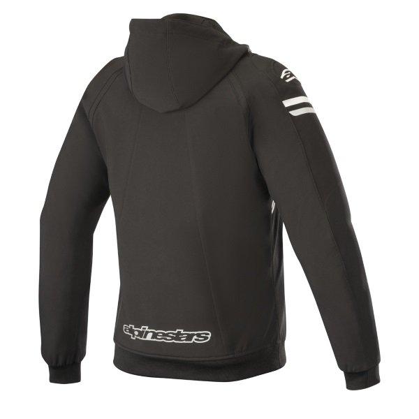 Alpinestars Stella Sektor Tech Ladies Black White Fuchsia Textile Motorcycle Hoodie Back