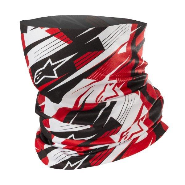 Alpinestars Blurred Black White Red Neck Tube