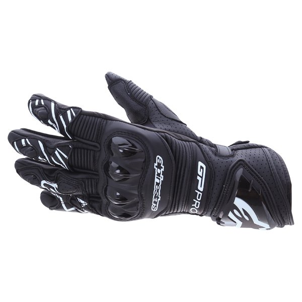 Alpinestars GP Pro R3 Black Motorcycle Gloves Back