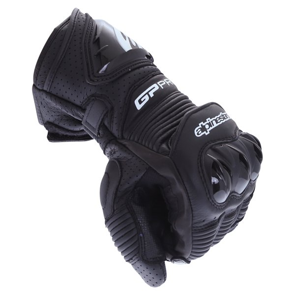 Alpinestars GP Pro R3 Black Motorcycle Gloves Knuckle