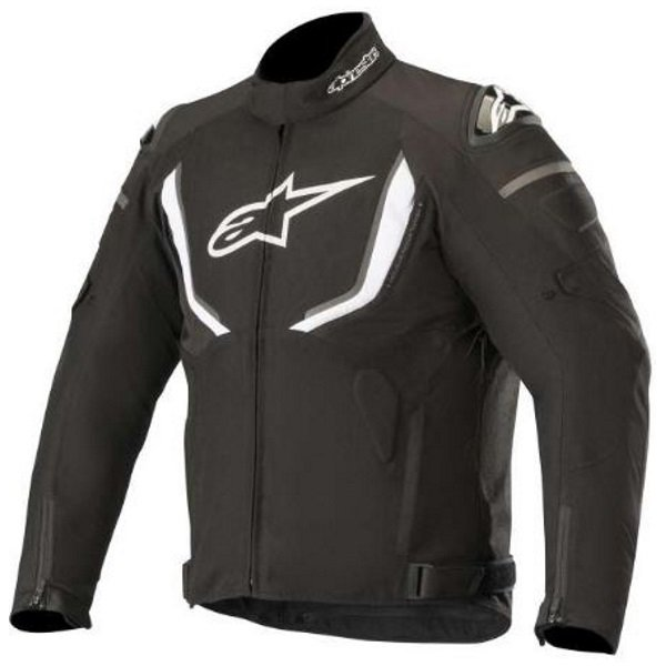 Alpinestars T-GP R V2 Black White Waterproof Textile Motorcycle Jacket Front