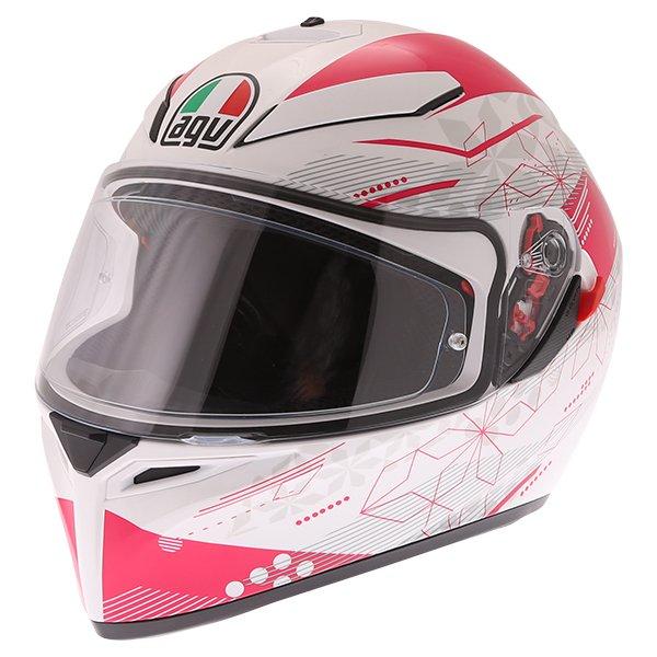 AGV K3 SV Izumi White Pink Full Face Motorcycle Helmet Front Left