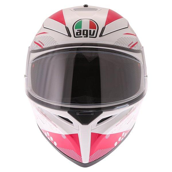 AGV K3 SV Izumi White Pink Full Face Motorcycle Helmet Front