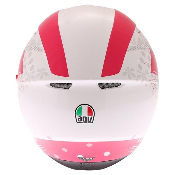 AGV K3 SV Izumi White Pink Full Face Motorcycle Helmet Back