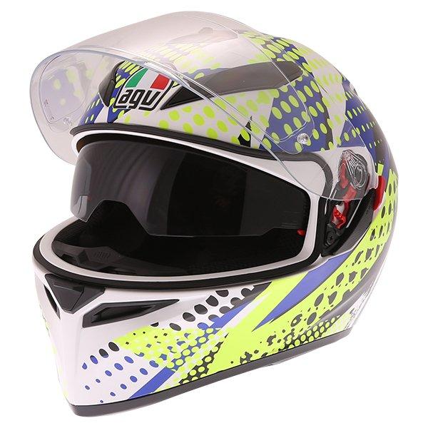 AGV K3 SV Pop Full Face Motorcycle Helmet Open With Sun Visor