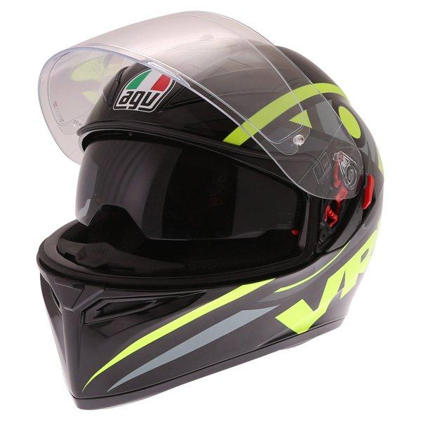 AGV K3 SV Solun 46 Full Face Motorcycle Helmet Open With Sun Visor