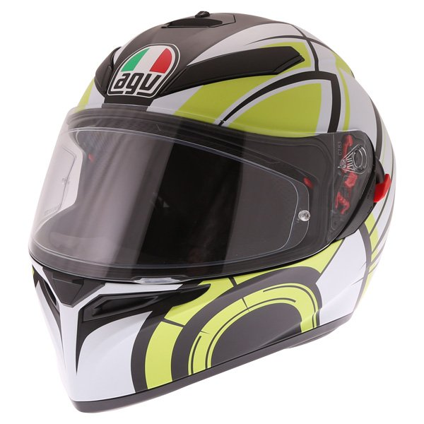 AGV K3 SV Avior Green Full Face Motorcycle Helmet Front Left