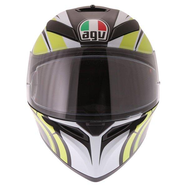 AGV K3 SV Avior Green Full Face Motorcycle Helmet Front
