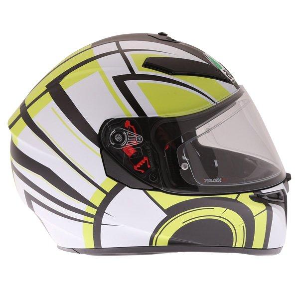 AGV K3 SV Avior Green Full Face Motorcycle Helmet Right Side