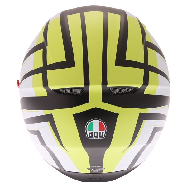 AGV K3 SV Avior Green Full Face Motorcycle Helmet Back