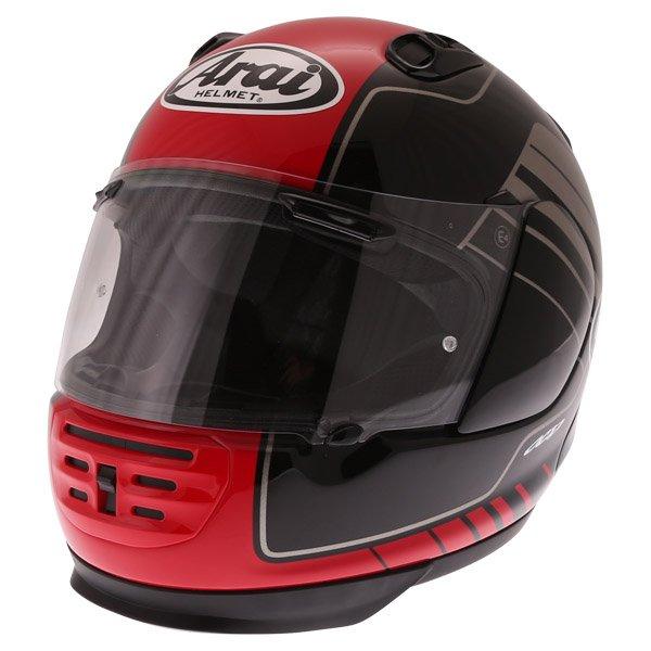 Arai Rebel Street Red Full Face Motorcycle Helmet Front Left