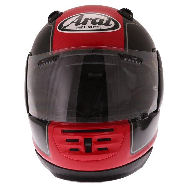 Arai Rebel Street Red Full Face Motorcycle Helmet Front