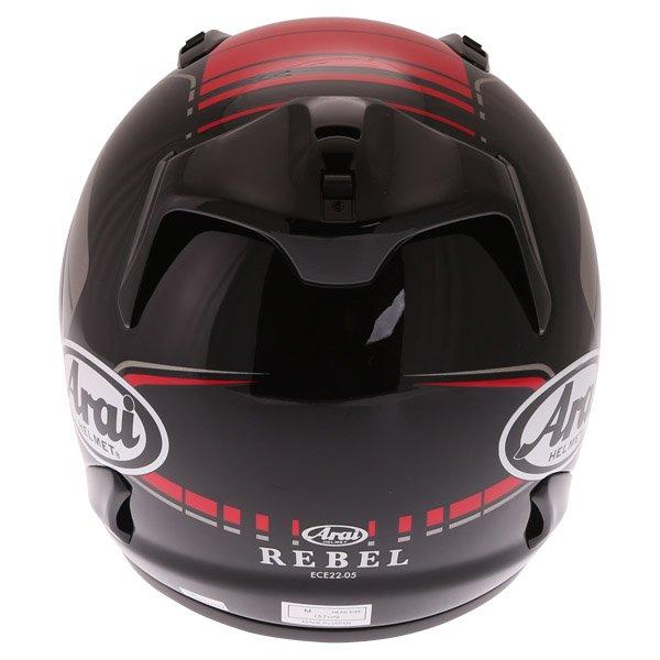 Arai Rebel Street Red Full Face Motorcycle Helmet Back