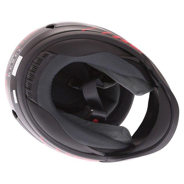 Arai Rebel Street Red Full Face Motorcycle Helmet Inside