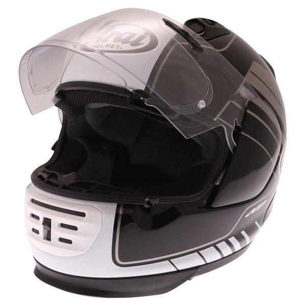 Arai Rebel Street White Full Face Motorcycle Helmet Open Visor