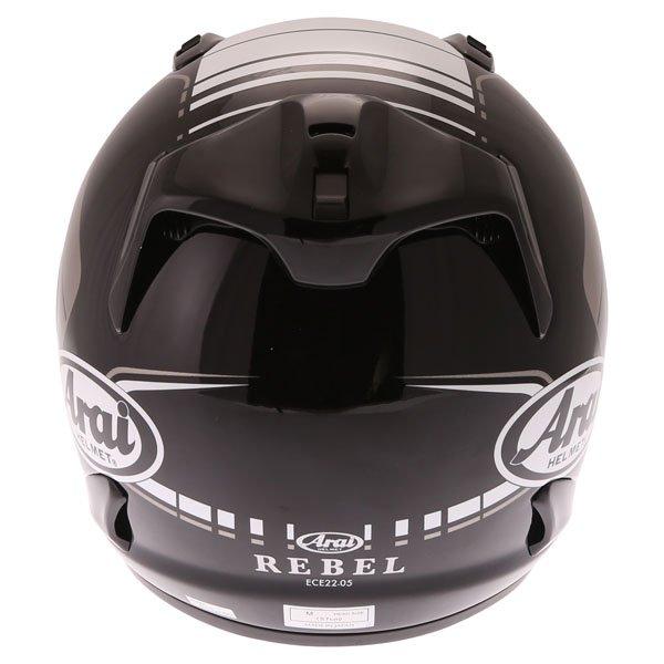 Arai Rebel Street White Full Face Motorcycle Helmet Back