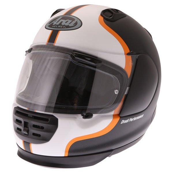 Arai Rebel Herritage White Full Face Motorcycle Helmet Front Left