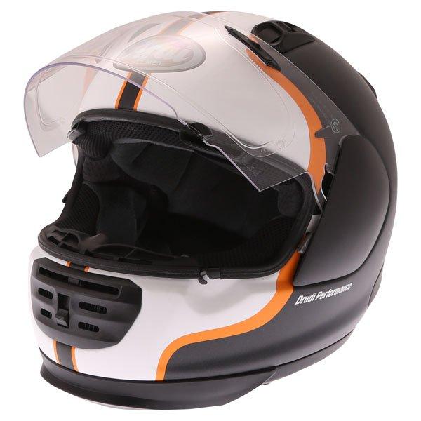 Arai Rebel Herritage White Full Face Motorcycle Helmet Open Visor
