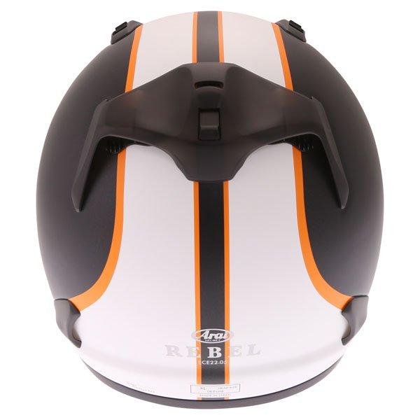 Arai Rebel Herritage White Full Face Motorcycle Helmet Back