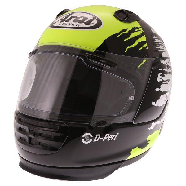 Arai Rebel Splash Green Full Face Motorcycle Helmet Front Left