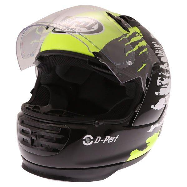 Arai Rebel Splash Green Full Face Motorcycle Helmet Open Visor