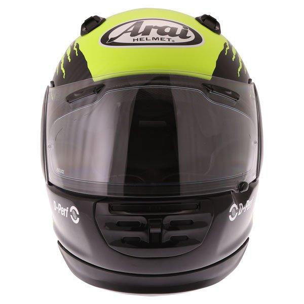 Arai Rebel Splash Green Full Face Motorcycle Helmet Front