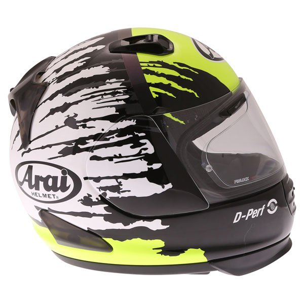 Arai Rebel Splash Green Full Face Motorcycle Helmet Right Side