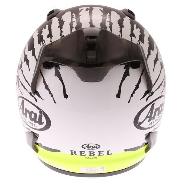 Arai Rebel Splash Green Full Face Motorcycle Helmet Back