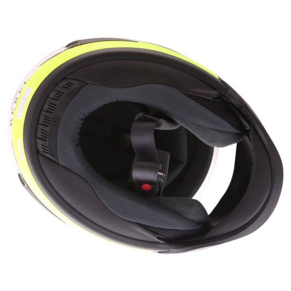 Arai Rebel Splash Green Full Face Motorcycle Helmet Inside