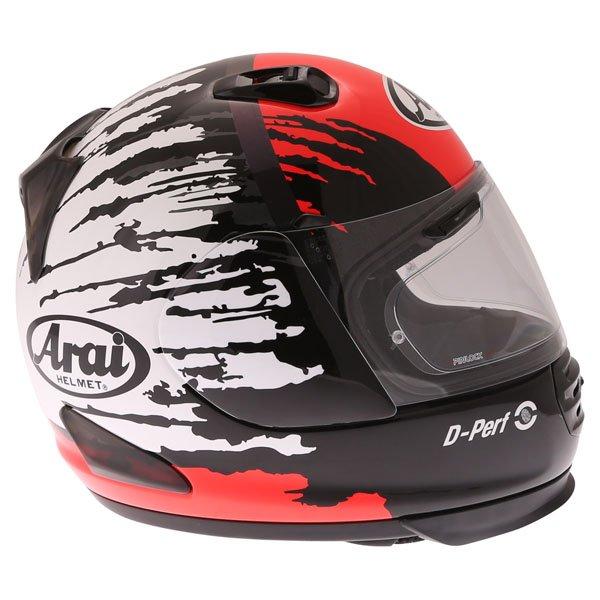 Arai Rebel Splash Red Full Face Motorcycle Helmet Right Side