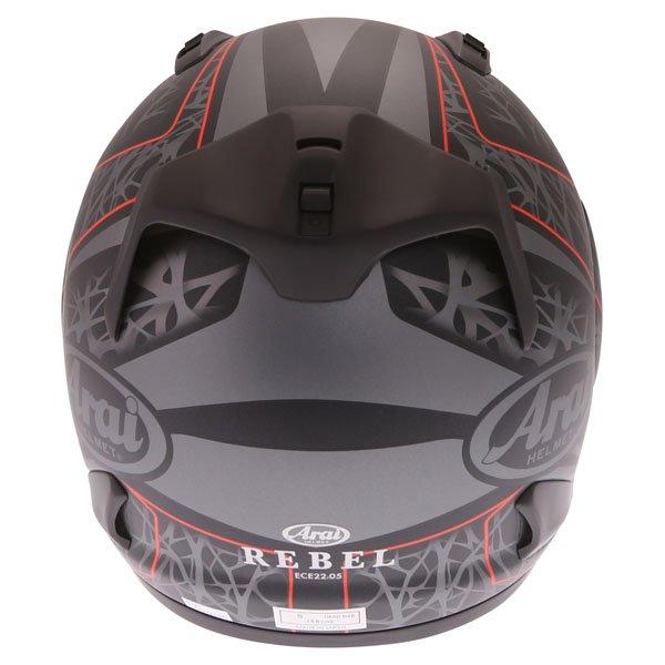 Arai Rebel Sting Multi Full Face Motorcycle Helmet Back