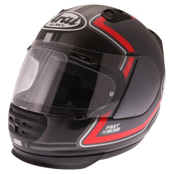 Arai Rebel Trophy Red Full Face Motorcycle Helmet Front Left