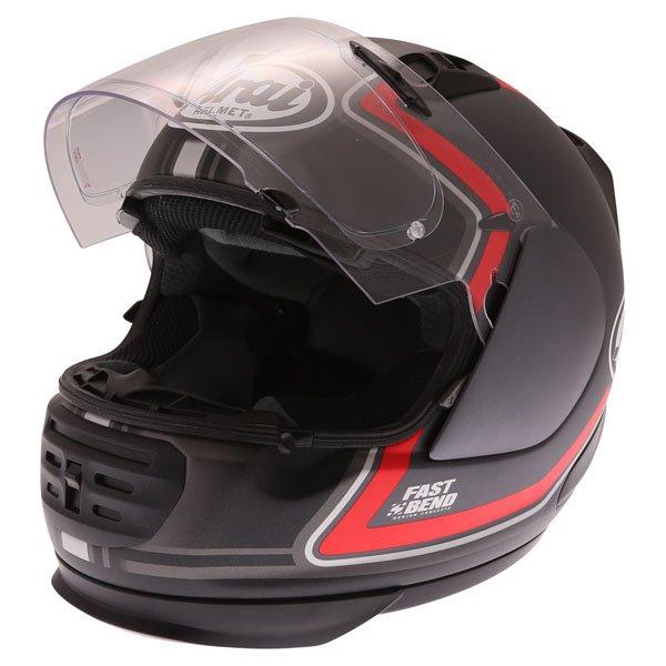 Arai Rebel Trophy Red Full Face Motorcycle Helmet Open Visor