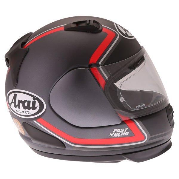 Arai Rebel Trophy Red Full Face Motorcycle Helmet Right Side