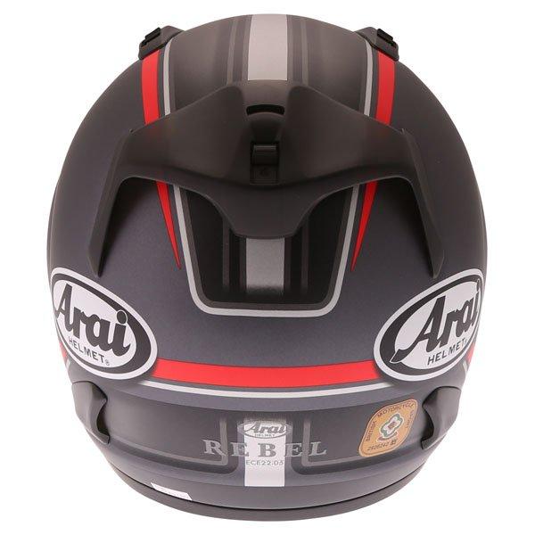 Arai Rebel Trophy Red Full Face Motorcycle Helmet Back