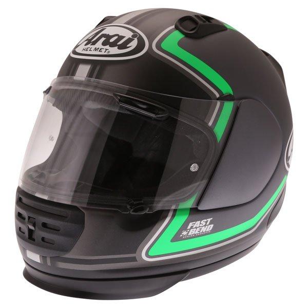 Arai Rebel Trophy Green Full Face Motorcycle Helmet Front Left