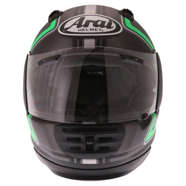 Arai Rebel Trophy Green Full Face Motorcycle Helmet Front