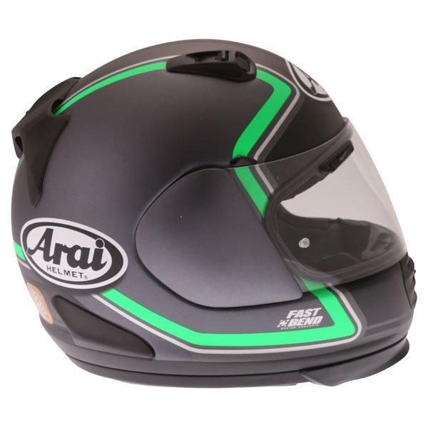 Arai Rebel Trophy Green Full Face Motorcycle Helmet Right Side