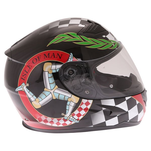 Nitro N2300 Isle of Man Full Face Motorcycle Helmet Right Side