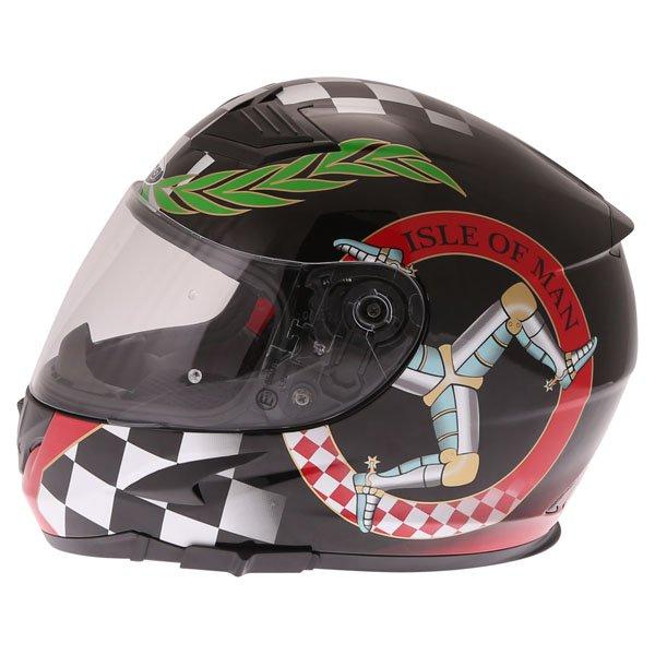 Nitro N2300 Isle of Man Full Face Motorcycle Helmet Left Side
